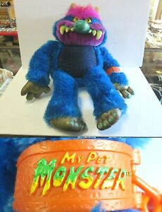"""1986 My Pet Monster AM Toy Co. American Greetings HUGE Plush Monster 26"""" Tall"""