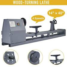 "1/2Hp Wood Turning Lathe 14"" x 40"" Wood Work 4 Speed 1100/1600/2300/3400 Rpm"
