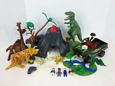 Playmobil 5230 Dinos Dinosaurs T-Rex Volcano 5558 Wildlife Adventure Vehicle Lot