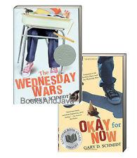 The Wednesday Wars & Okay for Now (pb) Gary D Schmidt - 2 Bk Set NEW