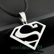 COOL MAN BOY Superman Pendant Stainless Steel Necklace ST83
