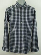 Van Heusen Studio Men's Plaid Long Sleeve Slim Fit Shirt XL 17-17 1/2
