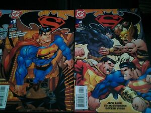 SUPERMAN BATMAN #1 4 5 6 DC Comics signed Jeph Loeb Ed McGuinness lot 5 books