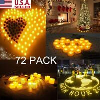 72 PACK  Flameless LED Votive Candles Battery Operated Flickering Tea Light US