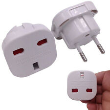 UK To EU Euro Europe European Travel Adaptor Plug 2 Pin Adapter CE Approved