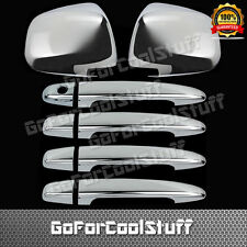 For Toyota Sienna MiniVan 2005-10 4 Door Handle W/O Pskh+Mirror 2Pc Chrome Cover