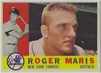 1960 ROGER MARIS TOPPS # 377 YANKEES RP BROKE HR RECORD IN 1961