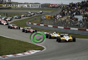 RACING Original 35mm Slide F1 Prost, Arnoux, Pironi Lap 1 1982 Holland Formula 1