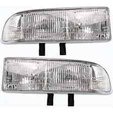 Fits 98-05 Chevy Blazer 98-04 S10 Pickup Left & Right Headlamp Assemblies (pair)