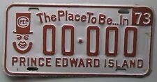 Prince Edward Island 1973 SAMPLE License Plate HIGH QUALITY # 00-000