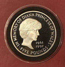 1999 In Memory Of DIANA PRINCE OF WALES £5 Five Pounds Coin Proof In Capsule