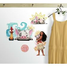DISNEY MOANA AND FRIENDS WALL DECALS Pua Hei Hei Rooster Room Decor Stickers