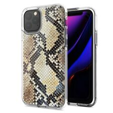 For Apple iPhone 11 Pro Max Snake Skin Design Double Layer Phone Case
