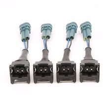 4 PCS EV1 Female to Denso Male Fuel Injector Connector Plug Clip Adapter