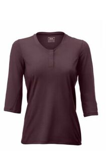 NWT 7MESH Women's Desperado Merino Henley Cycling Shirt Size Medium Death Plum
