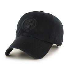 Pittsburgh Steelers 47 Brand Clean Up Hat Adjustable Cap Black on Black