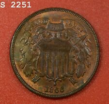 """1866 Two-Cent Piece """"CH BU"""" *Free S/H After 1st Item*"""