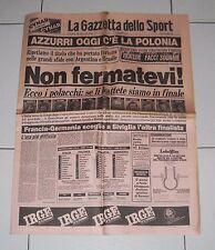 La Gazzetta dello Sport MONDIALI SPAGNA 1982 ITALIA POLONIA SEMIFINALE world cup