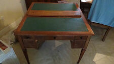 english walnut antique partners desk circa 1800 medium toned leather top inserts
