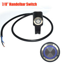 """7/8"""" Motorcycle Headlight Horn Power Switch With Blue Indicator Light Waterproof"""