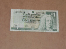 Scotland 1 Pound Sterling Banknote 1989 P-351a Circulated A/84 JCcug 7h