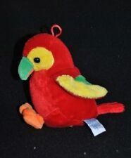 Peluche Doudou Perroquet GIPSY Oiseau Siffleur Musical Rouge Jaune Bec Vert TTBE