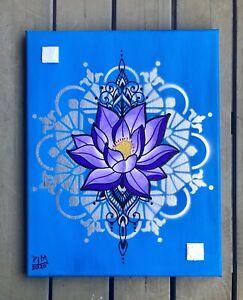 Lotus Flower Mandala Painting