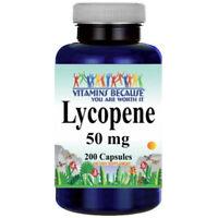 Lycopene 50MG 200 Capsules Antioxidant