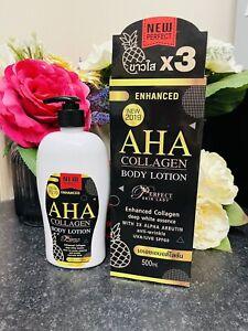 Aha Collagen White Essence With 3X Alpha Arbutin Anti-Wrinkle Body lotion 500 ml