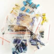 Lotto kit 120 pezzi 12 valori Condensatori elettrolitici 3.3uF-1000uF 10-100V