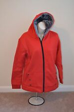 X FASHION Korean Red Leisure Winter Jacket Size 1 With Hoodie