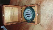 Antique Nautical Polaris Ship Floating Compass in Mahogany Box - Beautiful!