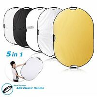 "Selens 24x36"" 5in1 Light Mulit Collapsible Photo Reflector 60x90cm With Handles"