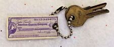 AMERICAN EXPRESS CHECK ~ VINTAGE ~ Key ring Chain pendant ~ FREE SHIPPING