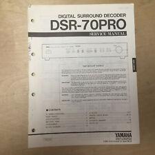 Original Yamaha Service Manual for DSR-70PRO Surround Decoder
