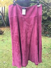 M&Co Ladies Skirt Size 18 Berry
