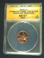 ** 2009 Lincoln Formative ANACS MS67 Skeleton Finger Doubled Die Error WDDR-006