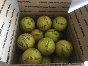 "18 Lot ASA Men's 52 300 12"" Softballs - Dudley Thunder SX Synthetic Cover"