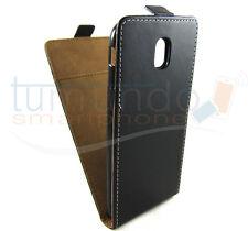 Funda de piel Premium negra Ultra-slim para Samsung Galaxy J7 (2017) Case