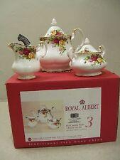 Royal Albert OLD COUNTRY ROSES Tea Set - Teapot Creamer Sugar - NEW IN BOX 2540