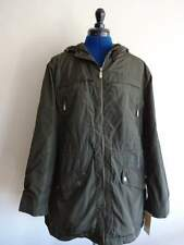 06ec797d49098 Michael Kors Olive Green Polyester Hooded Rain Trench Coat Womans LG