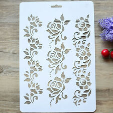 Flower Layering Stencils Painting Scrapbooking Embossing Paper Cards DIY Craft