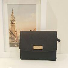 KATE SPADE Laurel Way Petty Crosshatch Leather Wallet Black  (001) WLRU2728 $89