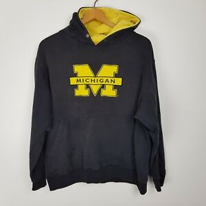 Michigan Wolverines Hoodie Size L Distressed Team Edition Apparel