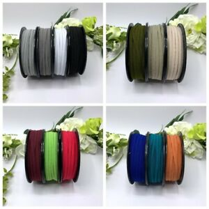 5mm elastic flat braided face mask straps assorted colours black white soft 1m