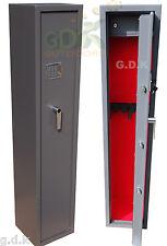 GDK DIGITAL VAULT LOCKING 5 GUN CABINET, SHOTGUN SAFE, 4/5 SCOPED RIFLE CABINET