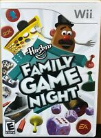 Hasbro Family Game Night (Nintendo Wii) - COMPLETE w/Manual, Tested