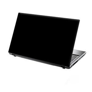 "TaylorHe 13-14"" Laptop Chromebook Mackbook Skin Cover Sticker Decal Pure Black"