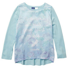 DISNEY CINDERELLA A DREAM IS A WISH YOUR HEART MAKES LONG SLEEVE T-SHIRT SIZE 8