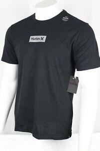 Hurley Men's Dri-fit Box Logo Short Sleeve T-Shirt Black BV1905